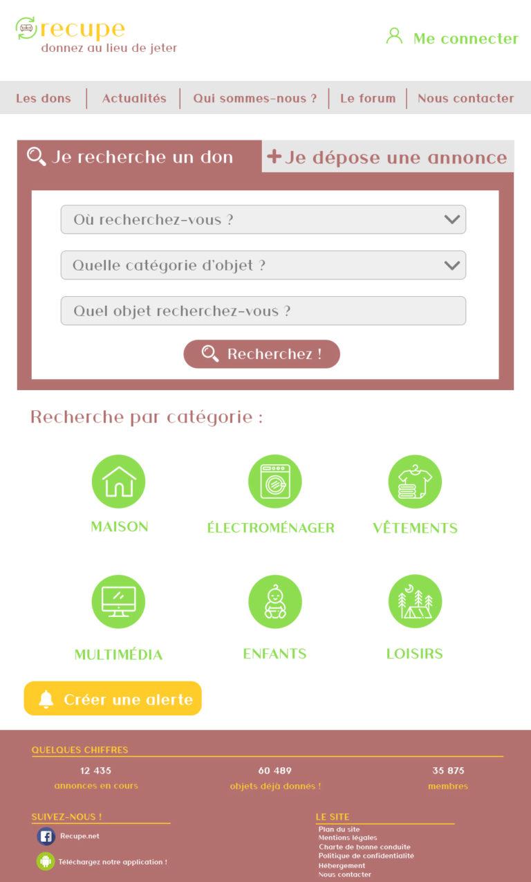Maquette refonte recupe.net