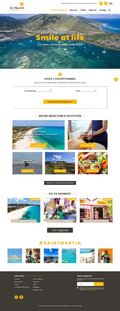 Maquette site desktop Île Saint-Martin